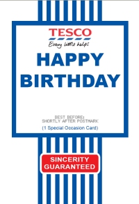 Tesco Value Greeting Card